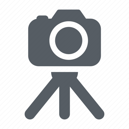 camera, lens, photo, studio, tripod icon