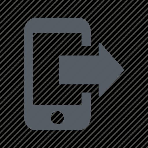 communication, mobile, phone, sending icon