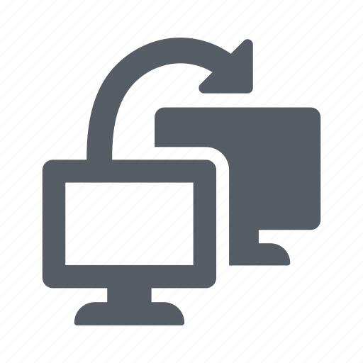 computers, connection, linked, network, system icon