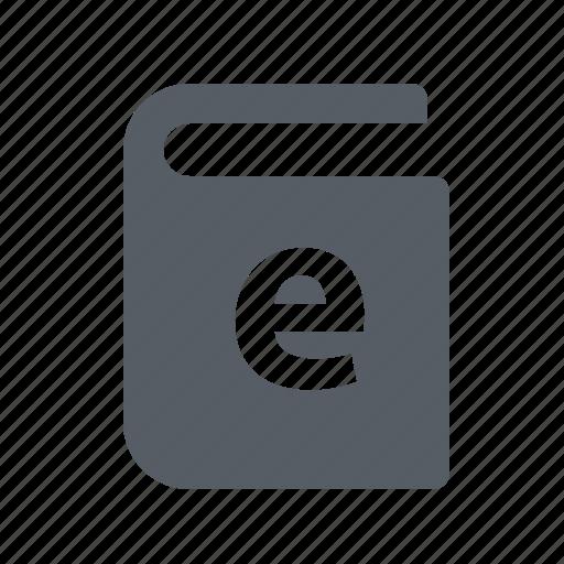 book, digital, e, technology icon
