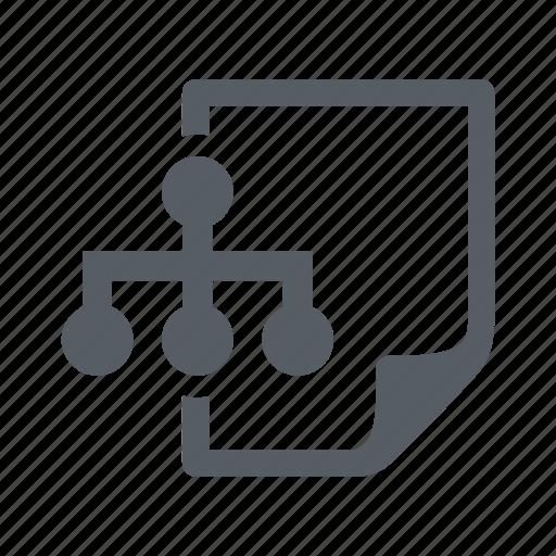 diagram, document, file, network icon