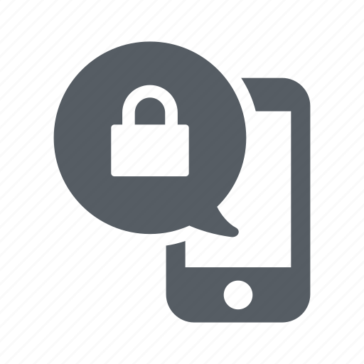 communication, lock, message, mobile, phone icon