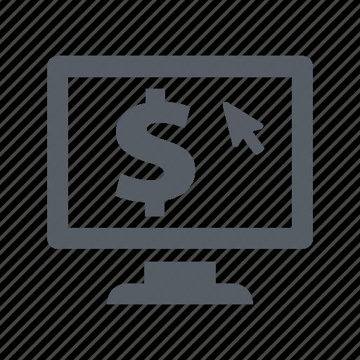 banking, computer, finance, money, online, screen icon