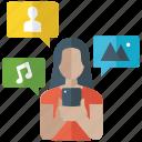 digital media, mobile apps, mobile media, social media, social network icon