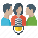 communication, dialogue, discussion, inter communication, meeting, oral communication, voice communication icon
