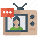 broadcast media, digital marketing, television, tv programme, tv transmission icon