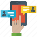 chatting, discussion, messaging, mobile chat, mobile texting