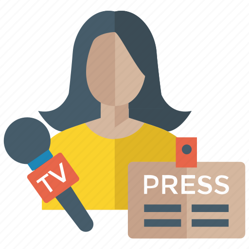 journalist, media reporter, news reporter, press reporter, tv reporter icon