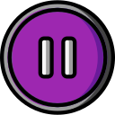 audio, media, media player, music, pause, video player icon