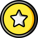 audio, media, media player, music, star, video player icon