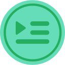 audio, media, media player, music, playlist, video player icon