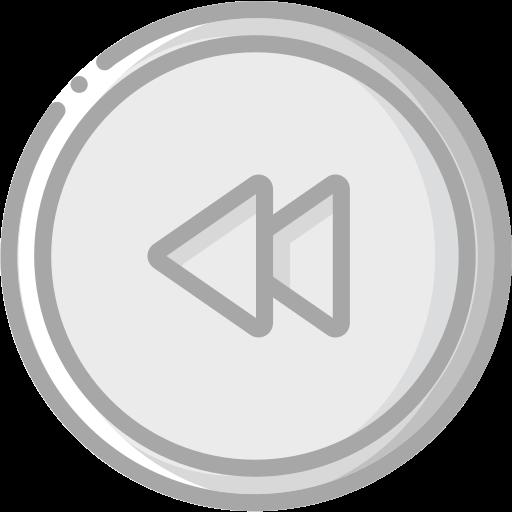 audio, media, media player, music, rewind, video player icon