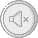 audio, media, media player, music, mute, video player icon