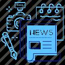 camera, media, news, newspaper