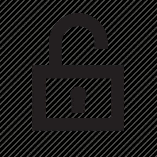 locked, padlock, player, unlock, video icon