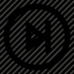 forward, next, play, player, round, step icon
