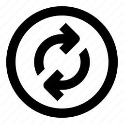 arrow, refresh, reload, reset, round icon