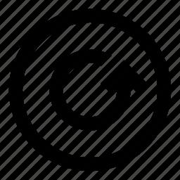 arrow, refresh, reload, reset, return, round icon