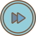 audio, fast, forward, media, media player, music, video player icon