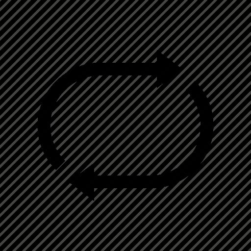 controls, media, repeat icon