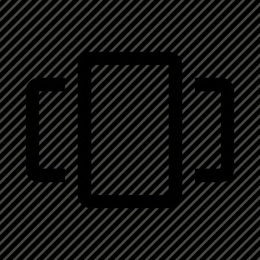 cover, flow, media icon