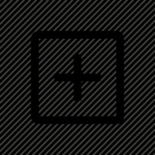 add, media, type icon