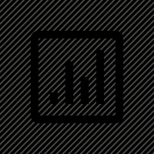 chart, media, type icon