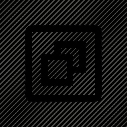 media, slides, type icon