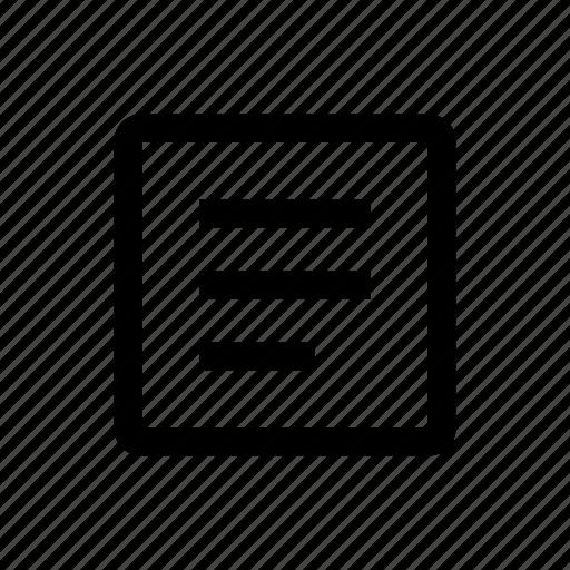 media, text, type icon
