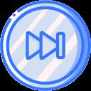 media, media player, video player, music, skip, forward, audio icon