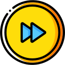 media, fast, video player, music, media player, forward, audio icon