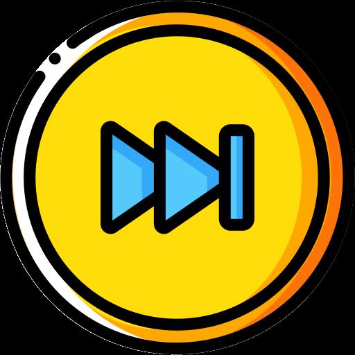 audio, forward, media, media player, music, skip, video player icon
