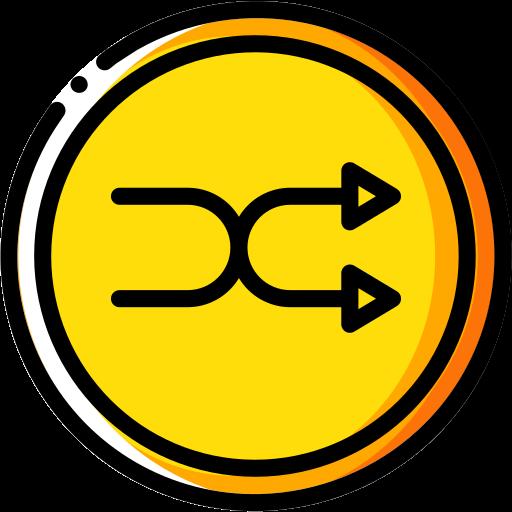 audio, media, media player, music, shuffle, video player icon