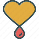 blood, heart, lovedroplet, organ icon