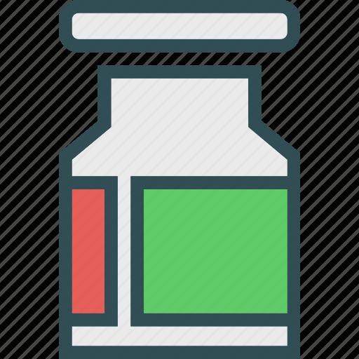 jar, meds, treatment icon