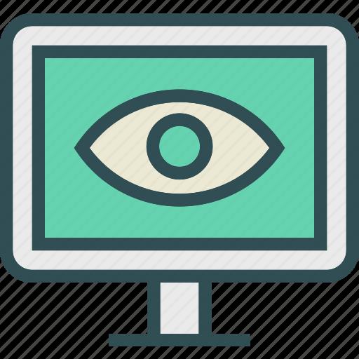display, eye, health, medical, monitor, stats icon