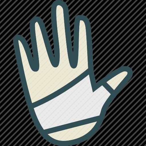 bandage, hand, health, medical icon