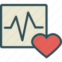 display, heart, lovemonitor, organ, stats icon