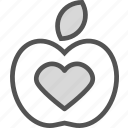 fruit, health, heart, love, medical, organ icon