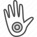 hand, health, medical, point icon