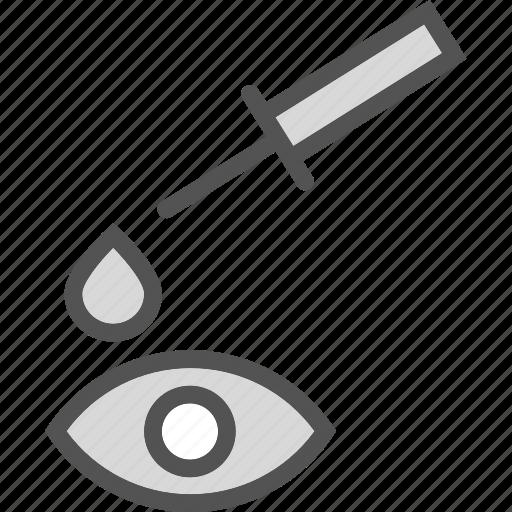 drop, eye, health, medical icon