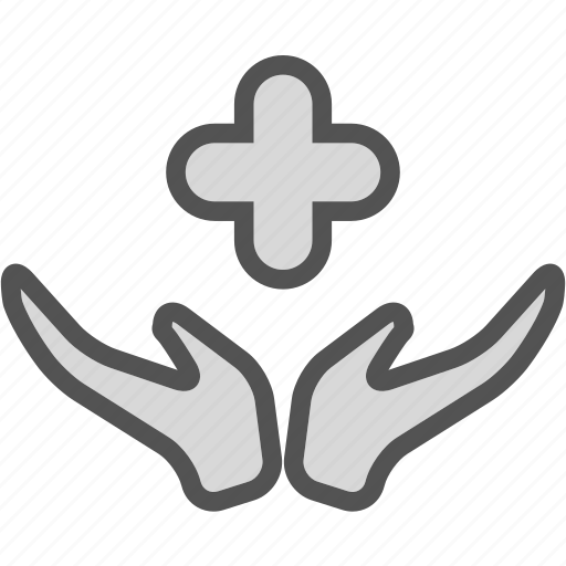 cross, hand, health, medical, smedical icon