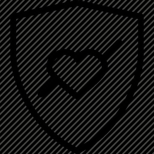 heart, loveshield, organ icon