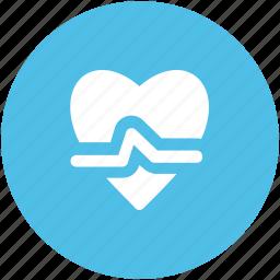 healthcare, heart rate, heartbeat, lifeline, pulsation, pulse, pulse rate icon