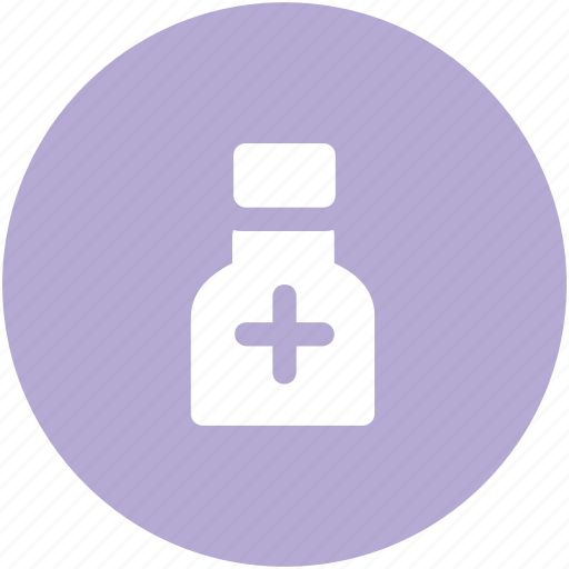 Drugs, medicine bottle, medicine jar, bottle, syrup, pills icon