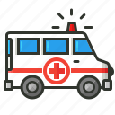 ambulance, emergency, healthcare, medical icon