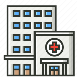building, clinic, hospital, medical, treatment icon