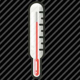 celcius, fever, forecast, medical, temperature, termometer icon