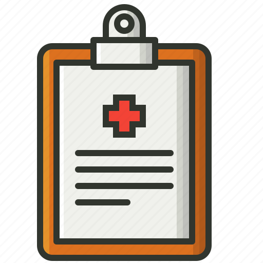 chart, clipboard, medical, medical report, medications, notepad icon