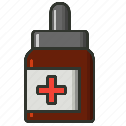 dropper, eyedrops, medical, medicine icon